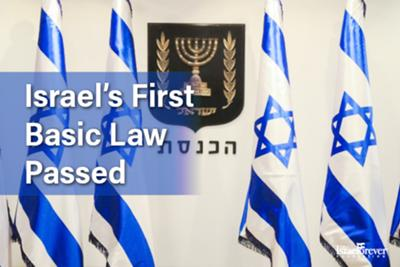First basic law in Israel Passed 1958