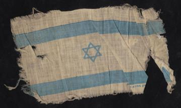 The Flag of Israel Raised by Holocaust Survivor Eleazar Shafrir