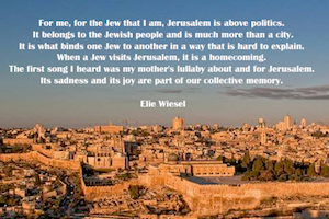 Jerusalem: Heart of Our Heart, Soul of Our Soul