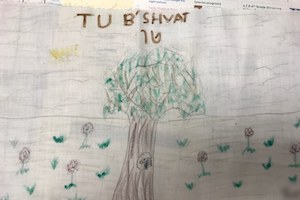 Tu B'Shevat Drawings from Temple Shaaray Tefila in Bedford Corners, NY