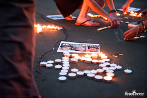 Candlelight Vigil for #EyalGiladNaftali