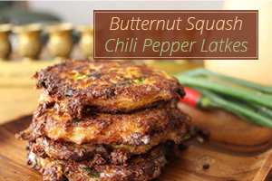 Butternut Squash Chili Pepper Latkes