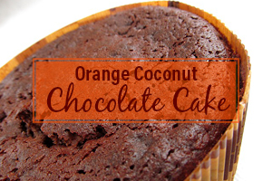 Orange Coconut Chocolate cake