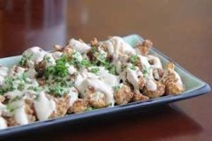 Roasted Cauliflower With Tehina Silan Sauce