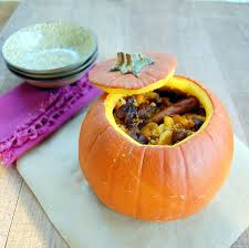 Whole Roasted Pumpkin Stuffed with Lamb and Bulgur