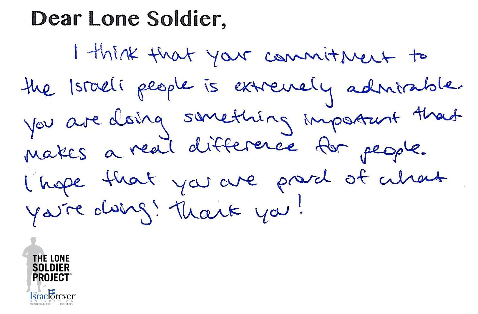 Campers at JCC of Greater Washington Send Thank You Letters to IDF Lone Soldiers
