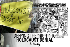 "Denying The ""Right"" to Holocaust Denial Activity"