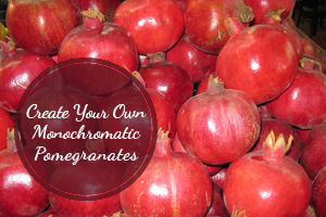 Create Your Own Monochromatic Pomegranates