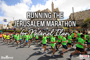 RUNNING THE JERUSALEM MARATHON FOR NETANEL ILAN