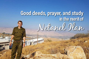 Good Deeds, Prayer and Study for the Merit and healing of Netanel