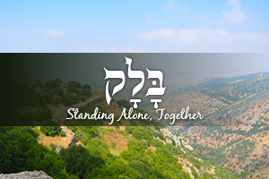 Standing Alone, Together - Parashat Balak