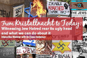 From Kristallnacht to Today: Witnessing Jew Hatred rear its ugly head and what we can do about it